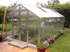 LIMES VARIANT J 6 pozinkovaný skleník, prosklení - sklo HELIOS