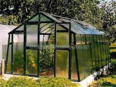 VARIANT K-X prodloužení skleníku, prosklení - sklo HELIOS