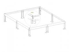 LIMES Podkladový rám s piloty pro prodlužovací modul H7-W