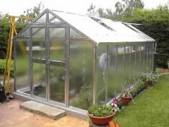 LIMES VARIANT J 5 pozinkovaný skleník, prosklení - sklo HELIOS