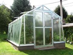 LIMES VARIANT K 6 pozinkovaný skleník, prosklení - sklo HELIOS