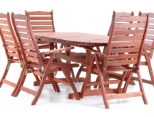 Dřevěný zahradní nábytek ISTANBUL SET 6 stolová sestava