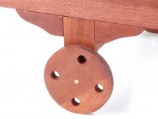 Dřevěné polohovací lehátko RESORT - meranti