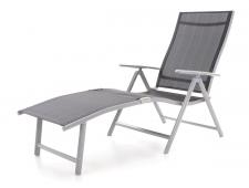 VeGAS BLACK-AL plážové polohovací lehátko